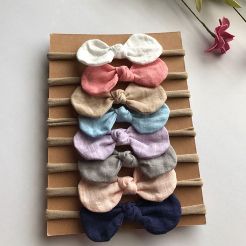 Emmaaby/Милая повязка на голову, 4 шт./компл., для малышей, для малышей, чалма,