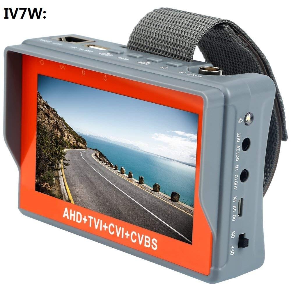 IV7W 4.3 inch four in one HD CCTV tester monitor AHD CVI TVI CVBS analog cameras testing3MP 1080P 960P 720P PTZ audio 12V enlarge