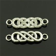 20pcs Charms Infinity Connector Antique Silver Color Tone 28x8mm Metal Jewelry Findings DIY Accessor