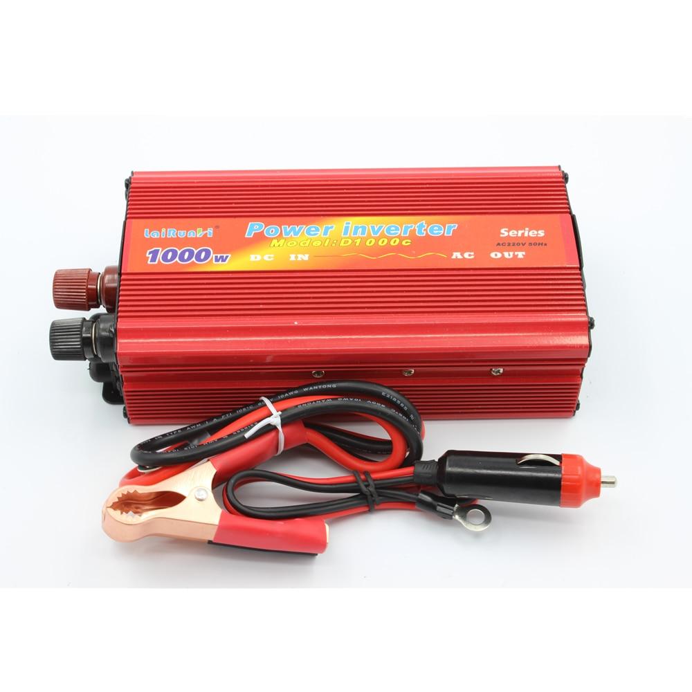 Car Inverter 1000W DC 12V~24V to AC 220V Power Inverter Adapter Vehicle motor Car Chargers Converter USB Free Shipping