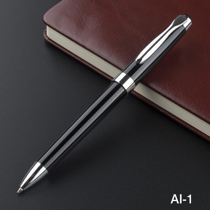 Высококачественная металлическая шариковая ручка с серебряным зажимом для письма в деловом стиле, шариковые ручки, школьные и офисные канц...