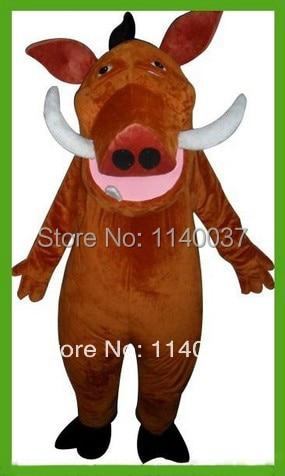 mascot Hot Cartoon Character Pumbaa Mascot Adult Size Pumbaa Cosply Carnival Costumes School Activities Mascote Outfit Suit