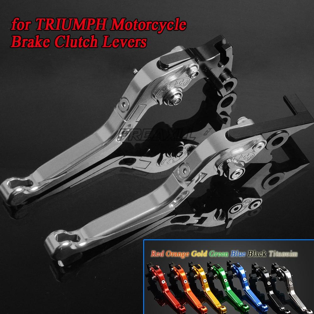 Freaxll cnc moto alavancas de freio embreagem da motocicleta dobrável extensível ajustável para triumph thruxton steve mcqueen se