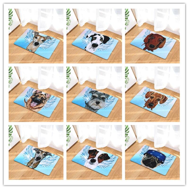 Estilo nórdico perro alfombra de baño cocina puerta rectangular mat