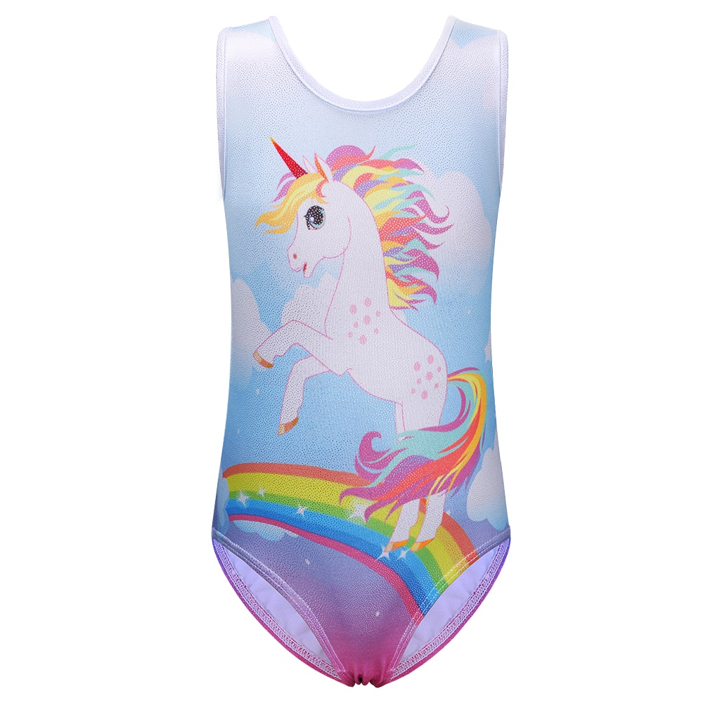 BAOHULU Colorful Ballet Polyester Toddler Girls Gymnastics Leotards Baby Kids Ballet Costumes Lovely Girls Cartoon Dance Clothes