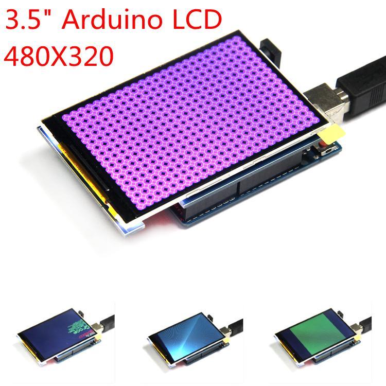 """Бесплатная доставка! ЖК-модуль 3,5-дюймовый TFT ЖК-экран 3,5 """"для Arduino UNO R3 платы и поддержка mega 2560 R3"""