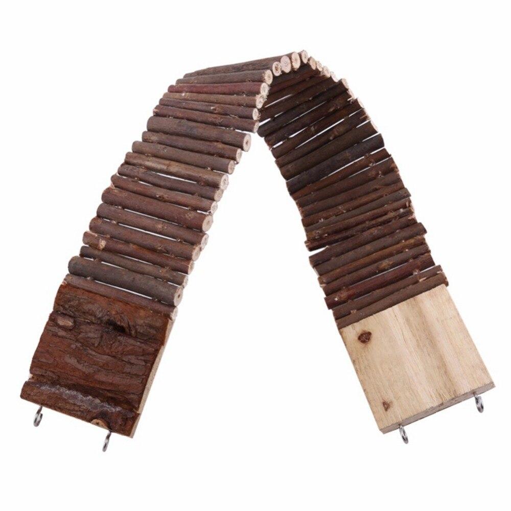 Гибкая забавная мышь для домашних животных, подвесная лестница для хомяков, деревянный мостик, игрушки из натурального дерева для домашних ...