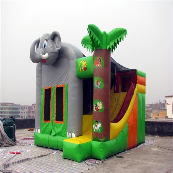 Nuevo castillo hinchable Combo, castillo hinchable con elefante, parque infantil, Juguetes