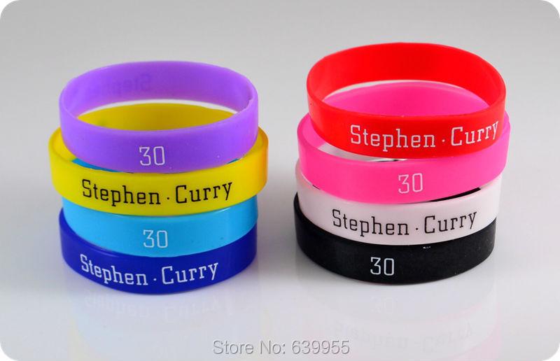 10x Stephen Curry #30 baloncesto MVP superestrella pulsera de silicona pulsera de moda joyas deportivas