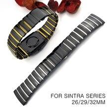 20mm 29mm 32mm Keramische Horloge Band Polshorloge voor Rado Sintra Serie Band Brand Horlogeband Man Vrouw Black