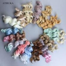 Mode poupée cheveux accessoires pour poupées poupée Tresses perruque pour BJD haute température fibre 15x100cm cadeau pour fille