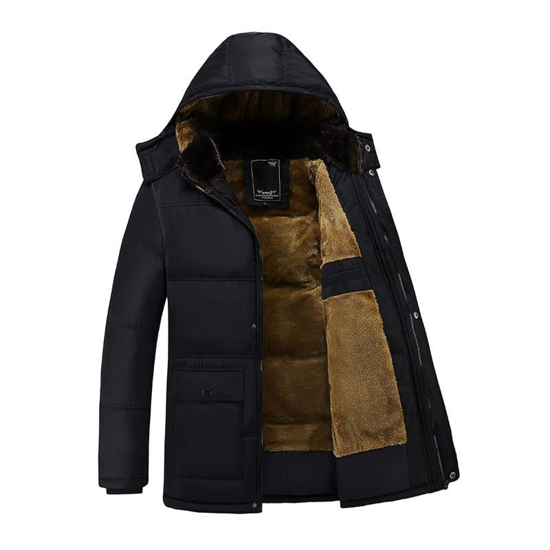 Новая брендовая одежда, мужские повседневные парки, Длинные Стильные Свободные куртки с капюшоном, парки с капюшоном для пожилых мужчин, фл...