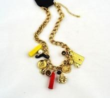 Statement Necklace beautiful metal necklace pearl multicolour tower big necklace beads Bohemian Necklaces Pendants Women