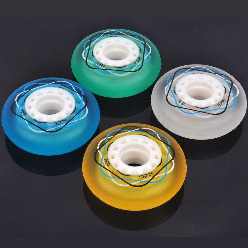 Patines de ruedas en línea 88A de 4 piezas de calidad 72/76/80mm, patines deslizantes, rodas Estilo libre para tabla ondulada, ruedas giratorias para Surf callejero