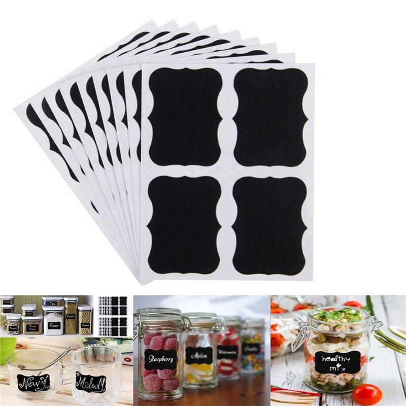 36Pcs/set Blackboard Sticker Craft Kitchen Jars Organizer Labels Chalkboard Chalk Board Sticker 5cm x 3.5cm Black Board