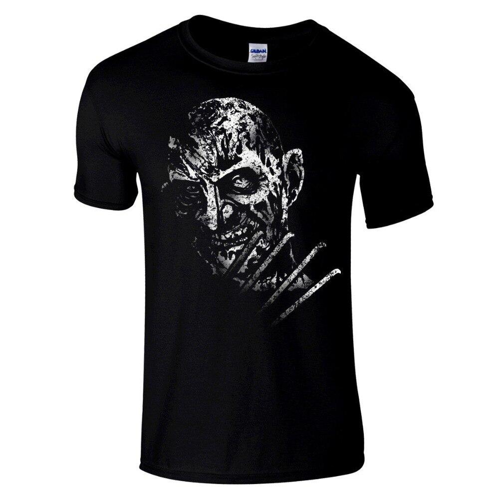 Camisetas de moda para hombre 2018 Freddy Krueger Premium negro regular fit horror T camisa Pesadilla en Elm Street cuello Hipster camiseta