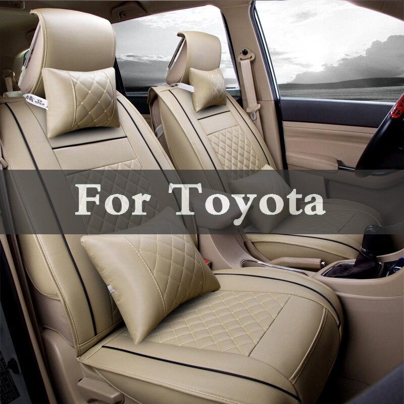 Housses de protection en cuir synthétique   Siège spécial pour auto, en polyuréthane, ensemble de protection pour Toyota Mark Mr2 Opa Passo Mr-S Platz Premio Ii Mirai X, bonne qualité