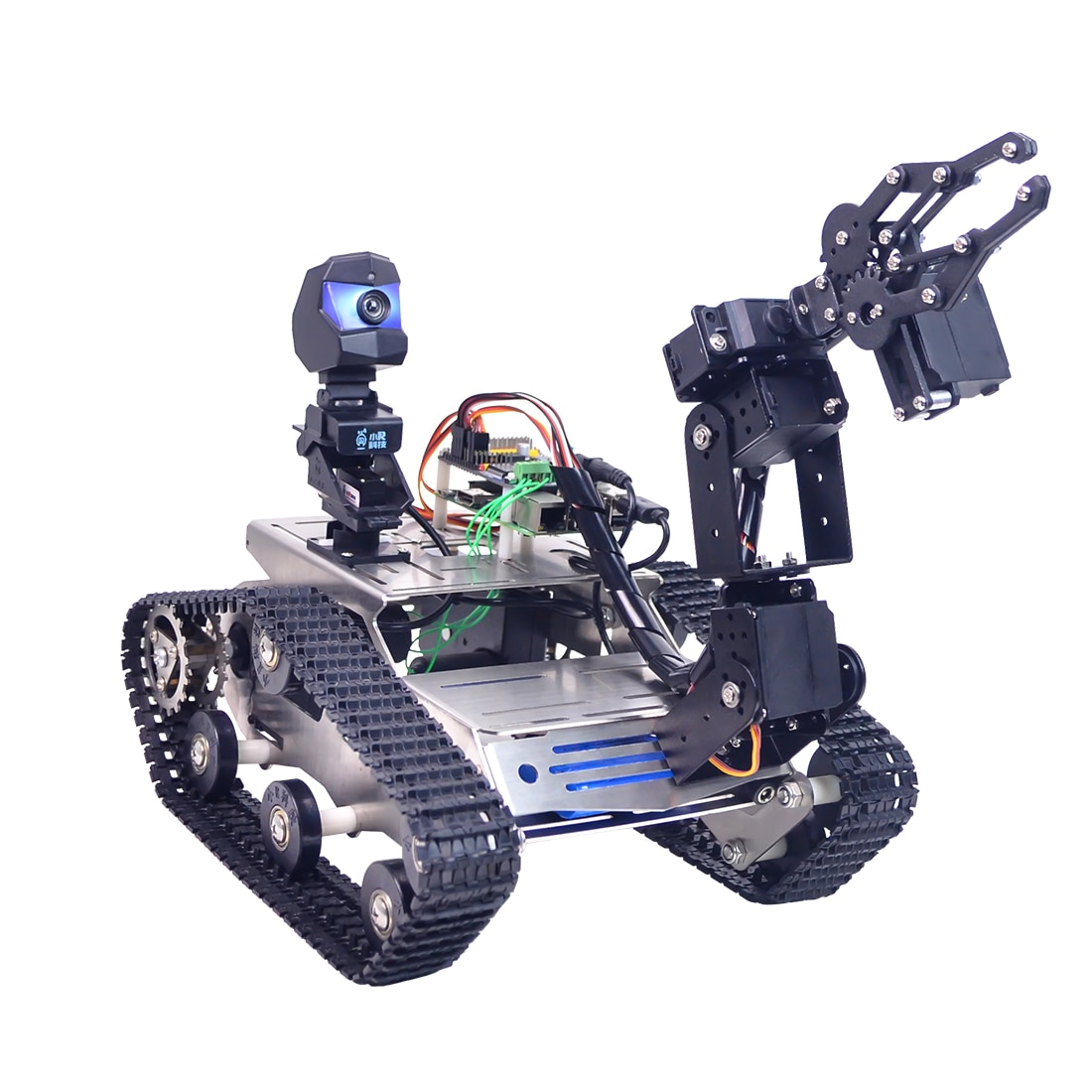 Cuctom EU Programmable TH WiFi FPV Tank Robot Arm Toys Games For Arduino MEGA - Standard Version Sma