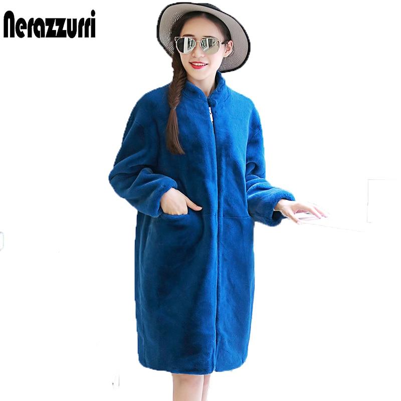 Nerazzurri Plus Size Faux Fur Jacket 6XL 7XL Black Women Loose oversized cocoon coat Winter Elegant Fake Fur Coat Zipper Outwear