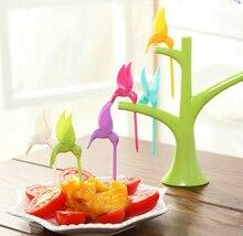 Fourchette à fruits créative fourchette   Accessoires de cuisine, cuisine fruits légumes outils créatif fourchette à fruits cure-dents Gadgets fourchette à la mode, signe écologique 2017