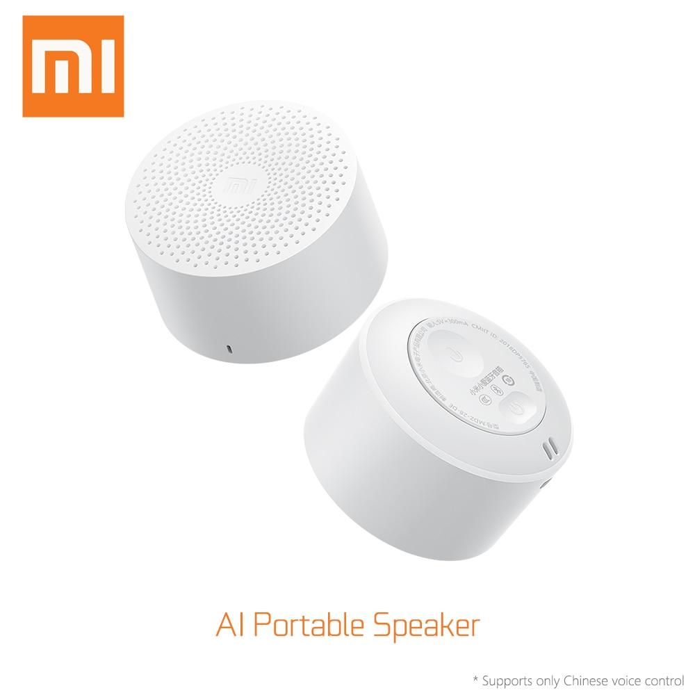 Xiaomi originais AI Hands-free Super Som Portátil Sem Fio Bluetooth Speaker Leve Smart Mini Speaker Longa Espera