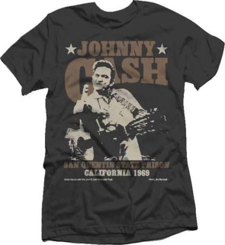 Johnny Cash forajido dedo S M L XL 2XL negro camiseta
