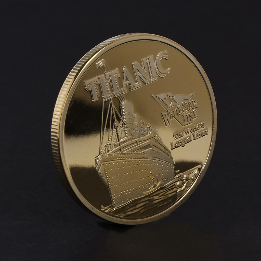 Bonita moneda conmemorativa Titanic Ship Incident, regalos artísticos de coleccionismo, aleación