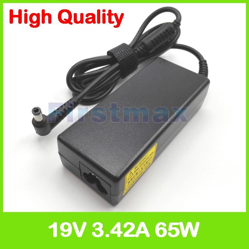 19V 3.42A 65W AC adaptador de la computadora portátil de la fuente de alimentación para Asus X45 X450 X451 X452 X454 X455 X4G X85 X88 Y481 Y482 Z65 Z8400 cargador