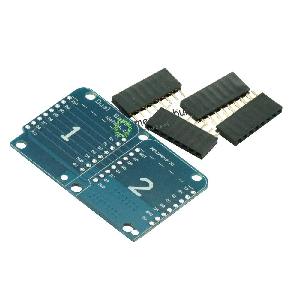 Для Wemos D1 Mini Dual Socket Dual Base Shield D1 Mini NodeMCU ESP8266 макетная Базовая плата 3,3 В с контактами
