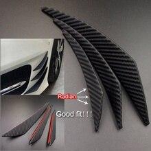 6 pièces ensemble universel en Fiber de carbone voiture avant pare-chocs séparateur Spoiler Canard cantonnière en Fiber de carbone Style voiture avant pare-chocs ailettes lèvre