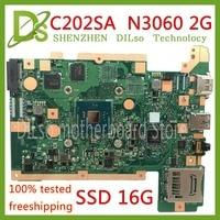 KEFU C202SA For ASUS C202 C202SA Mainboard 2G RAM SSD 16G DDR3L Laptop Motherboard REV2.0 original Test work 100%