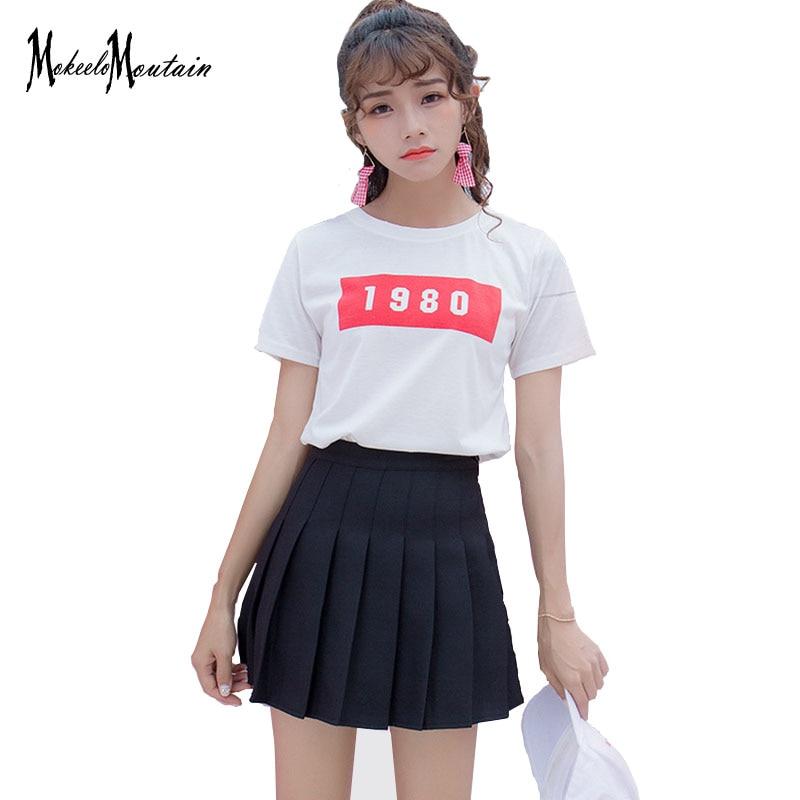 2019 Harajuku Lolita colegiala Falda plisada kawaii Coreano rosa/azul/negro/Streetwear color mini caramelo falda pantalones cortos Mujer