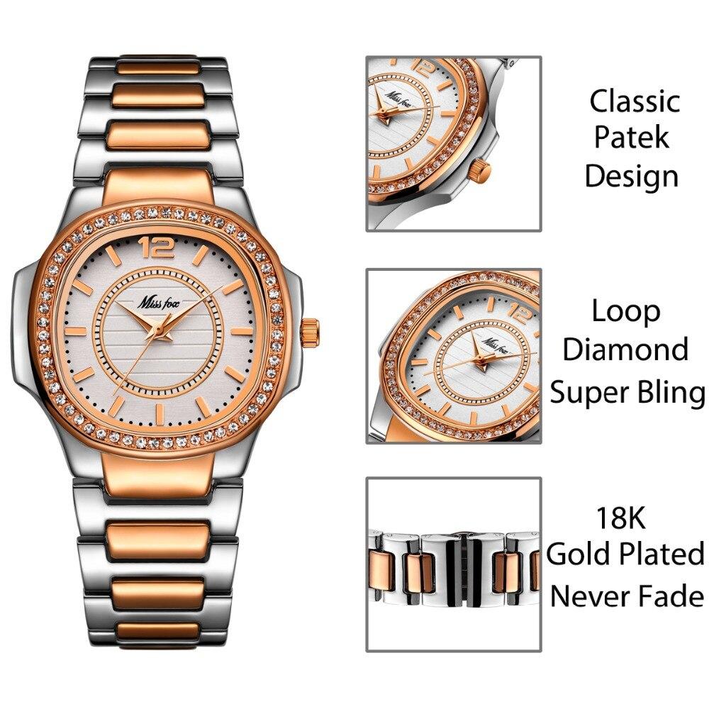 MISSFOX Best-seller Watch Women Waches Uhr Rose Gold Fashion Casual Ladies Wrist Watch Xfcs Dropshipping 2020 Quartz Wristwatch enlarge