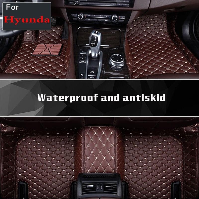 Tapis de voiture pour Hyundai Rvverna Starex Santafe Coupe   Tapis de sol personnalisés en 2019, carpette de voiture Grand