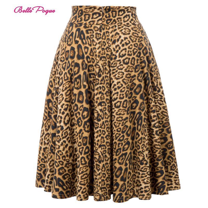 Belle poque leopardo imprimir saia de cintura alta plissado midi feminino outono inverno queimado saia moda arco festa saia gótico do vintage