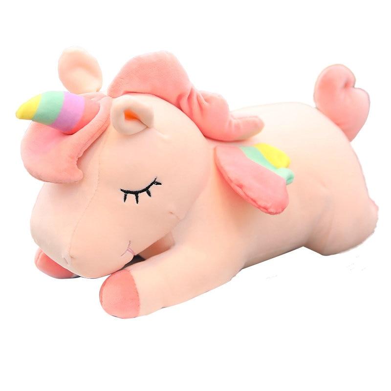 40-60 cm adorable Unicornio caballo de peluche de juguete colorido Animal de peluche Linda muñeca Unicornio niños regalo de cumpleaños
