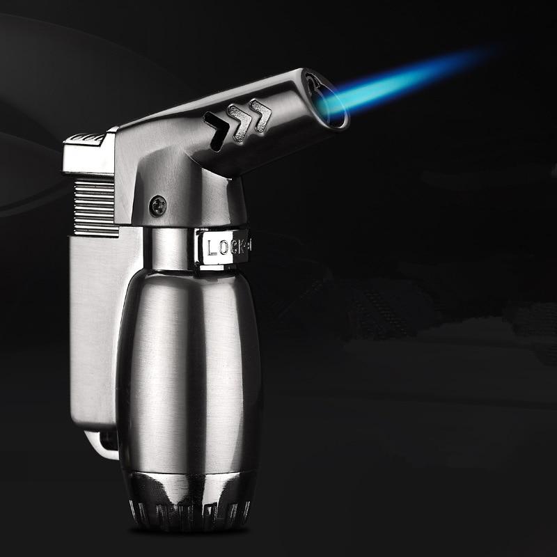 Компактный пистолет-распылитель, синяя пожарная ветрозащитная зажигалка, Бутановая струйная зажигалка, газовая горелка, турбо зажигалка, м...
