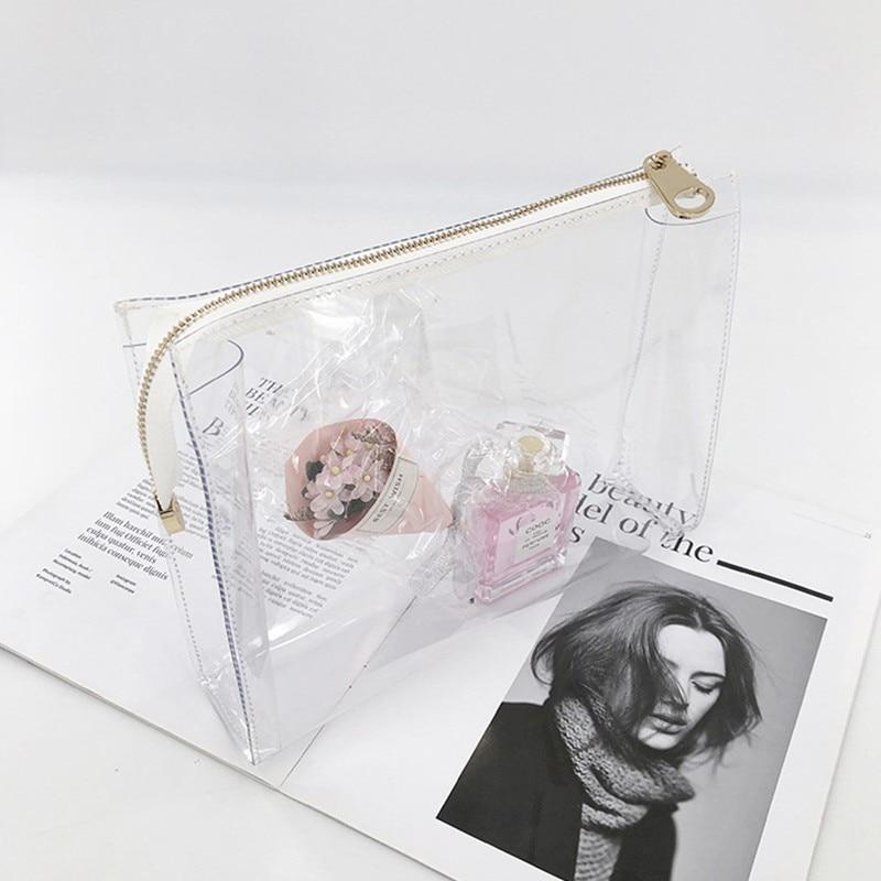 Bolsa De cosméticos transparente De Pvc, bolso De mujer, bolsa Neceser impermeable para lavado De gelatina, bolsa De maquillaje, saco, pantalón principal De Toilette Makyaj