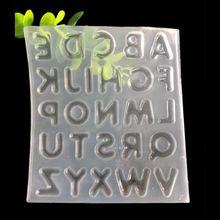 26 letras inglesas alfabeto de resina molde de fundición de silicona herramienta de fabricación de joyería