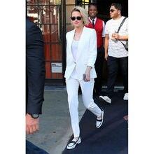 Blazer blanc élégant ensemble femmes daffaires costumes femme bureau uniforme filles travail pantalon costume B121