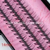l1612 black false eyelashes curled fake eye lashes makeup eyelash extension tool 8mm 10mm 12mm 14mm