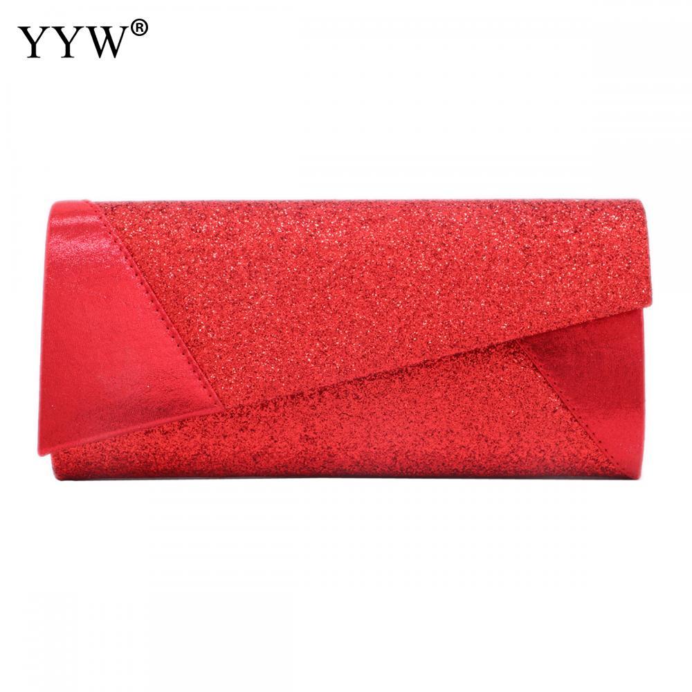 Women Evening Bag Party Banquet Glitter Bag For Women Red Silver Wedding Clutches Purse Sequin Shoulder Bag 2019 Bolsas Mujer