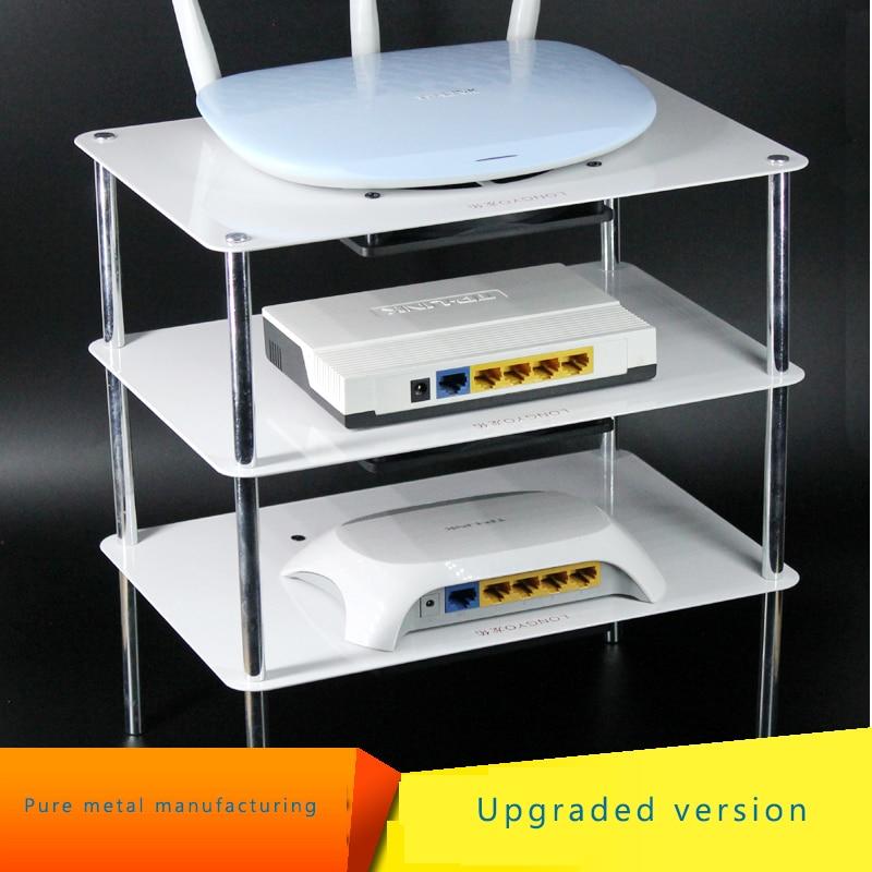 Estante de enfriamiento multicapa de acero titanio con USB 12cm 5V ventilador de enfriamiento silencioso es adecuado para routers/cajas de TV/cajas de medios