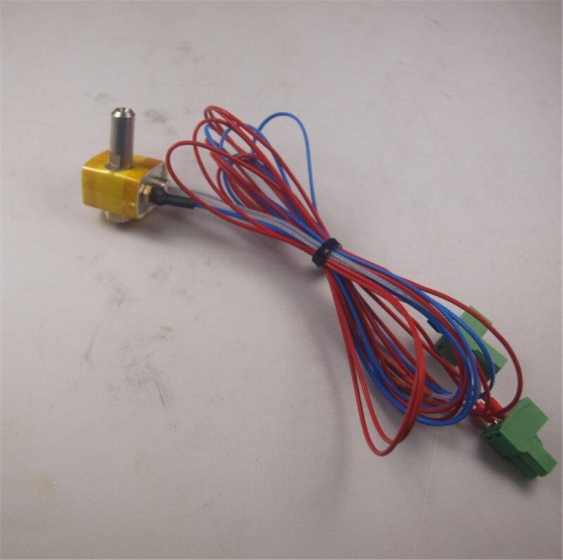 Conjunto 1 * kit bloco aquecedor hotend bico Flashforge Criador MK10 térmica Barril aquecedor cartucho de termopar tipo K