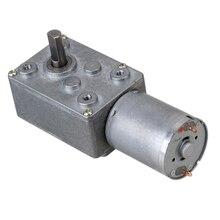 12В 15rpm червячный турбо мотор-редуктор правый угол передач двигатель постоянного тока, металлический редуктор коробка передач