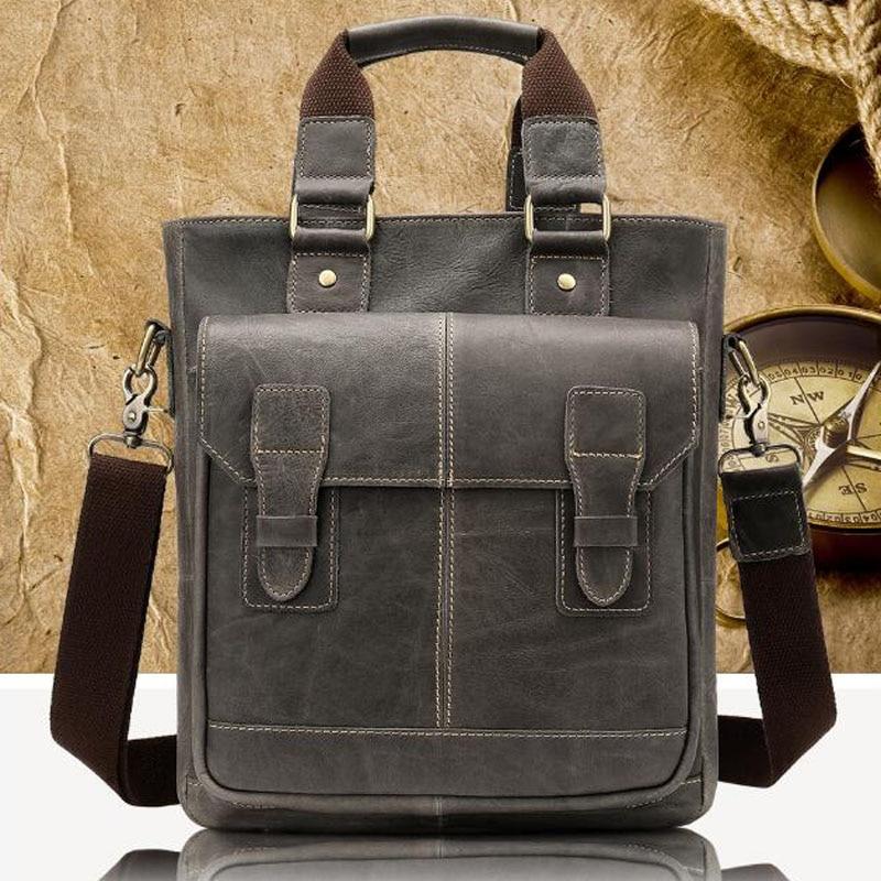 Messenger Bag Men's Shoulder Bags Genuine Leather Handbags Briefcase Male Zipper male men'S Crossbody Bags for Men Leather Bags