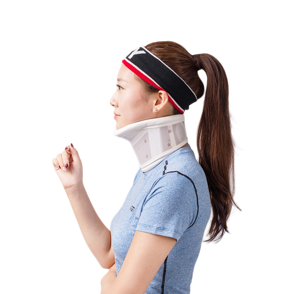 HKJD Adjustable Rigid Plastic Cervical Collar With Chin Support For Neck Problems Neck Injuries, Pai
