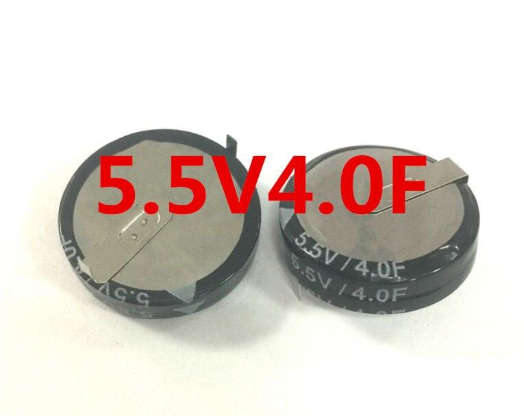 5,5 V 4F estilo H Horizontal Super condensador Farah condensador de doble capa baja ESR carga rápida larga Lif
