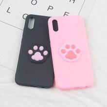 3D Cute Foot Case for LG K4 2017 K7 K8 K10 2018 K11 Q6 Q6A Q6 Plus Q7 2018 Q8 Footprint Pet Cartoon TPU Phone Cases