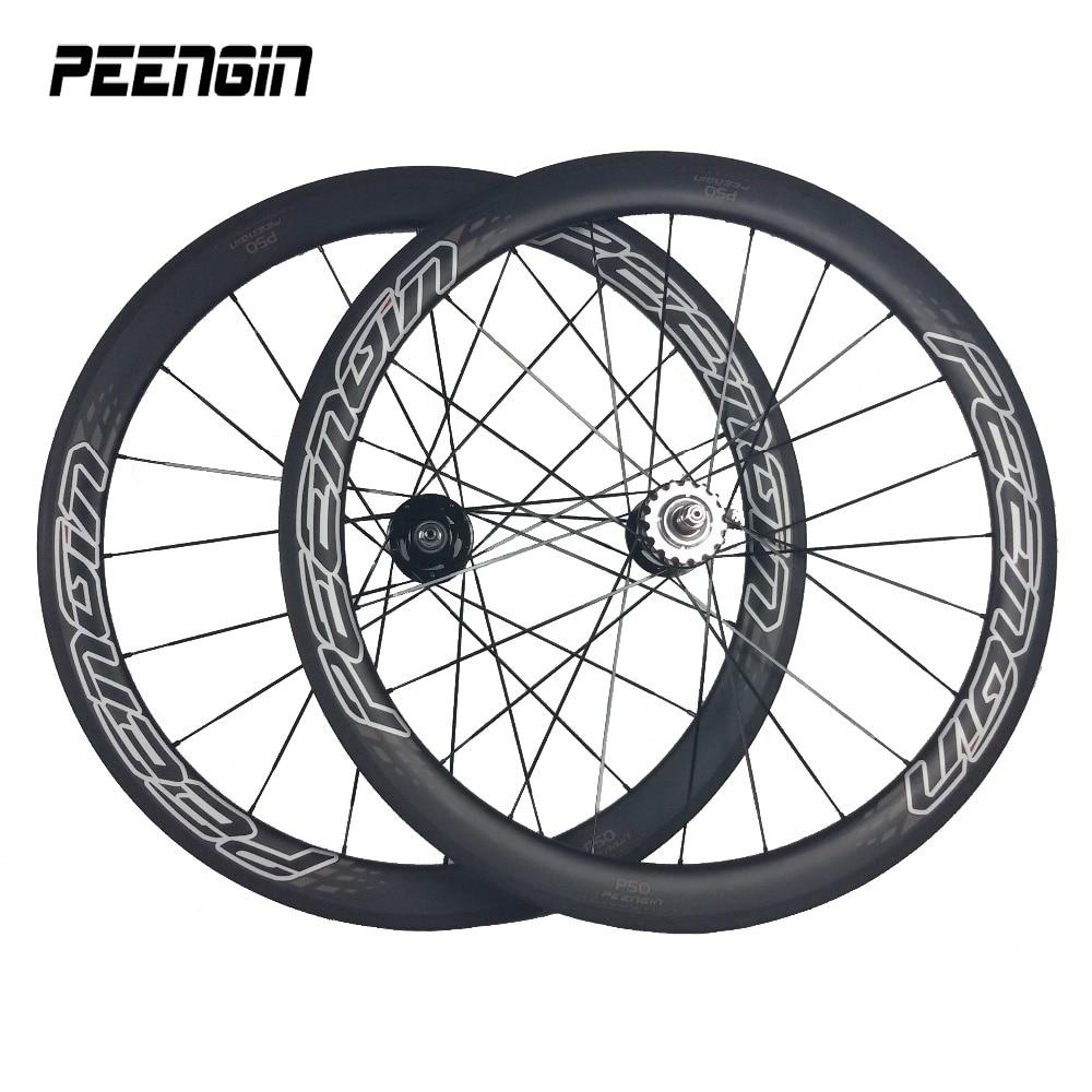 Rueda de bicicleta PEENGIN de 23mm de ancho, rueda de carbono de...